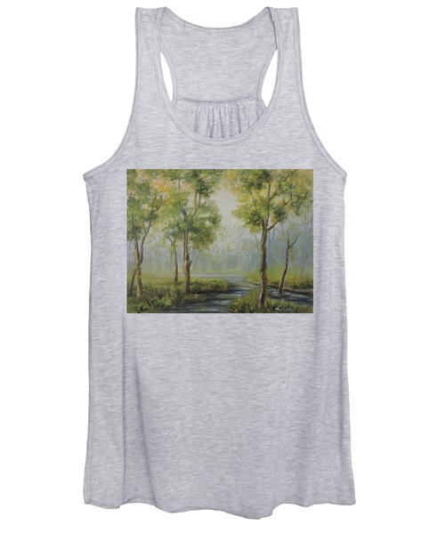Landscape Of The Great Swamp Of New Jersey With Pond Women's Tank Top