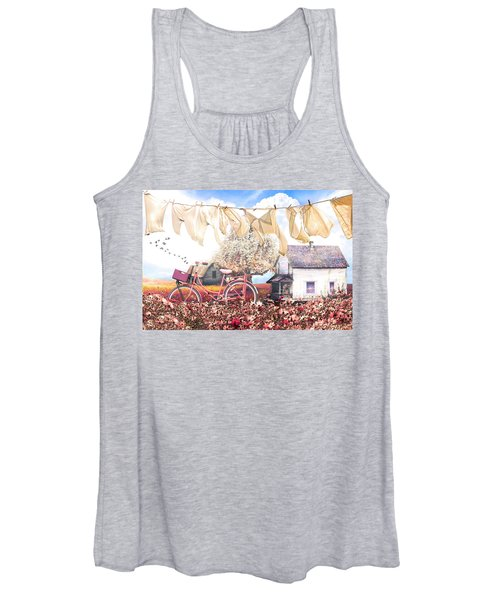 Laundry Day In Soft Vintage Colors Women's Tank Top