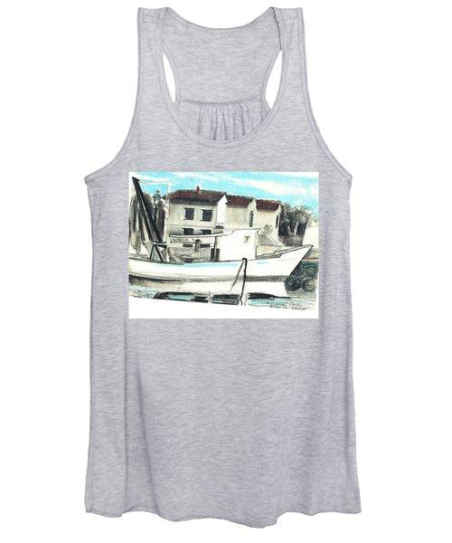 Le Barche Galleggianti Nel Mare Adriatico  Women's Tank Top