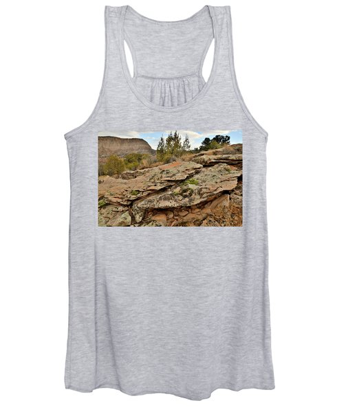 Lichen Covered Ledge In Colorado National Monument Women's Tank Top