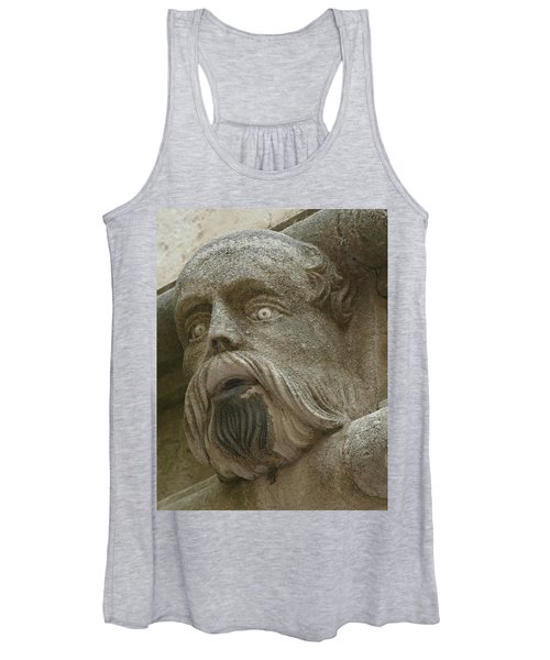 Life Sized Sculptures Of Human Heads Women's Tank Top