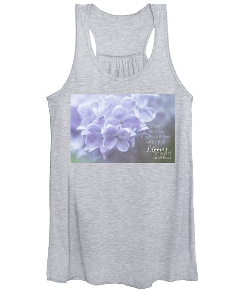 Lilac Blooms With Quote Women's Tank Top
