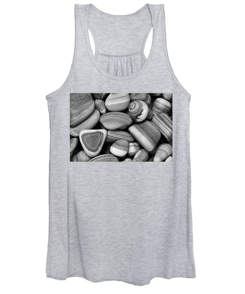 Lined Rocks And Shell Women's Tank Top
