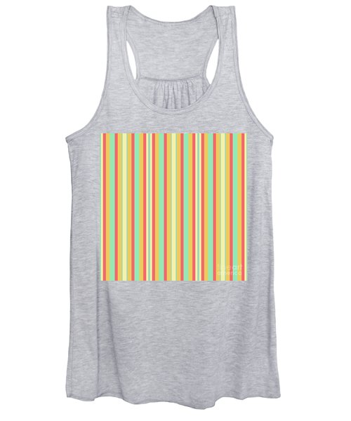 Lines Or Stripes Vintage Or Retro Color Background - Dde589 Women's Tank Top