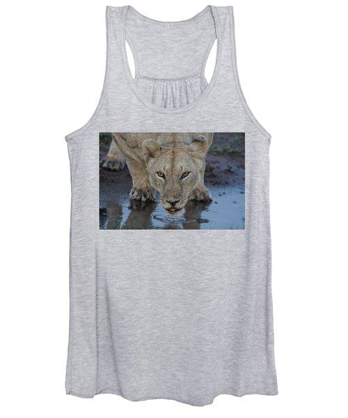 Lioness Drinking Women's Tank Top