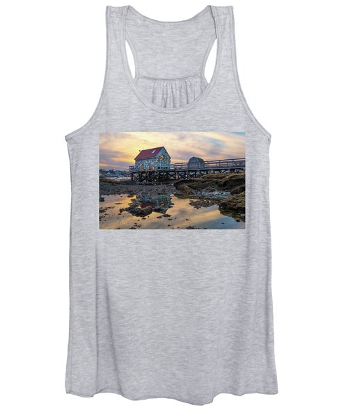 Low Tide Reflections, Badgers Island.  Women's Tank Top