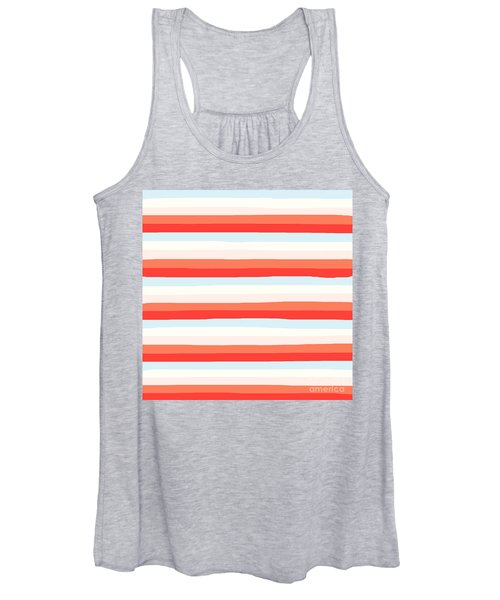 lumpy or bumpy lines abstract and colorful - QAB266 Women's Tank Top