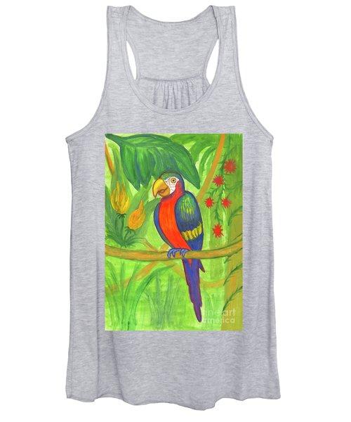 Macaw Parrot In The Wild Women's Tank Top