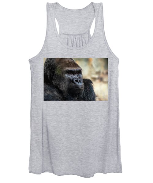 Male Western Gorilla Looking Around, Gorilla Gorilla Gorilla Women's Tank Top