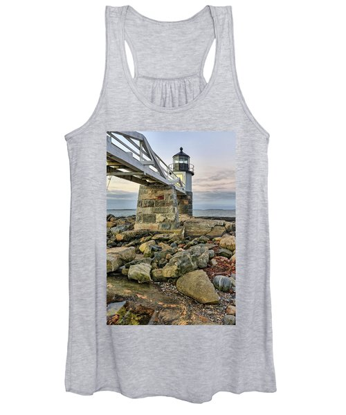 Marshall Point Light From The Rocks Women's Tank Top