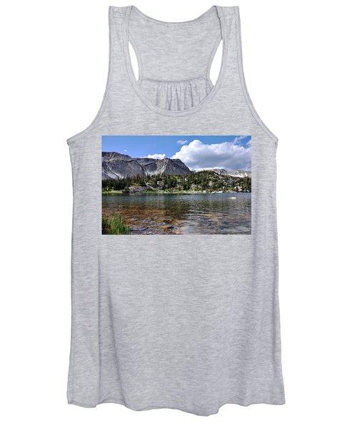 Medicine Bow Peak And Mirror Lake Women's Tank Top