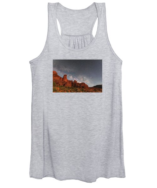 Milky Way Over Fisher Towers Women's Tank Top
