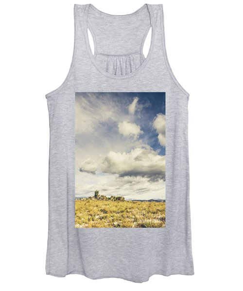 Minimal Mountaintop Meadow Women's Tank Top