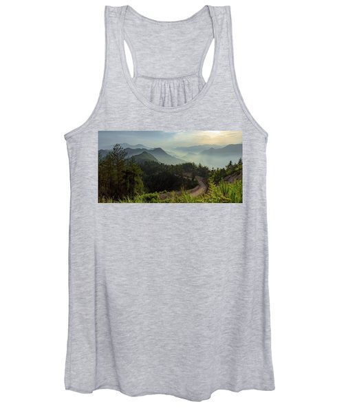 Misty Mountain Morning Women's Tank Top