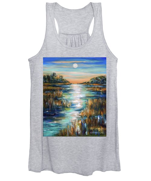Moon Over Waterway Women's Tank Top