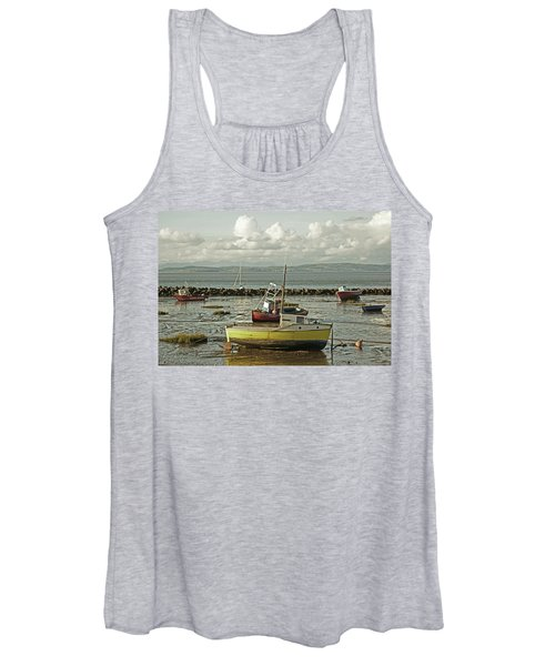Morecambe. Boats On The Shore. Women's Tank Top