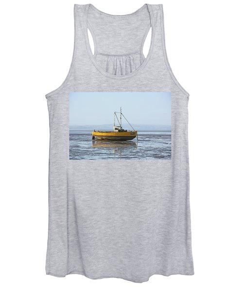 Morecambe. Yellow Fishing Boat. Women's Tank Top