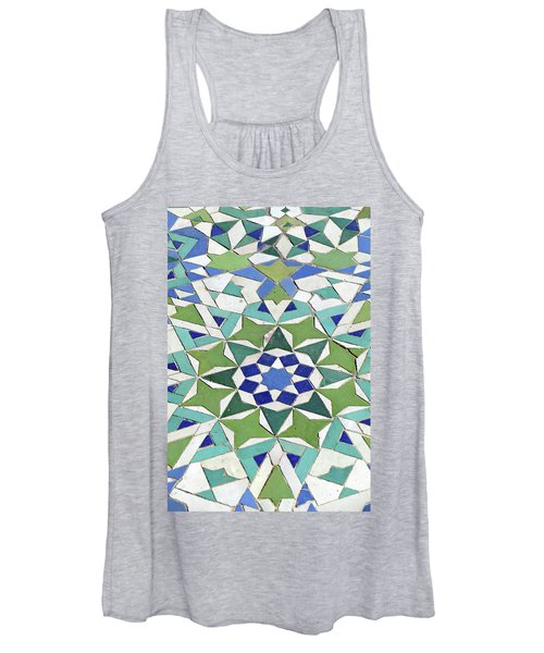 Mosaic Exterior Decorations Of The Hassan II Mosque Women's Tank Top