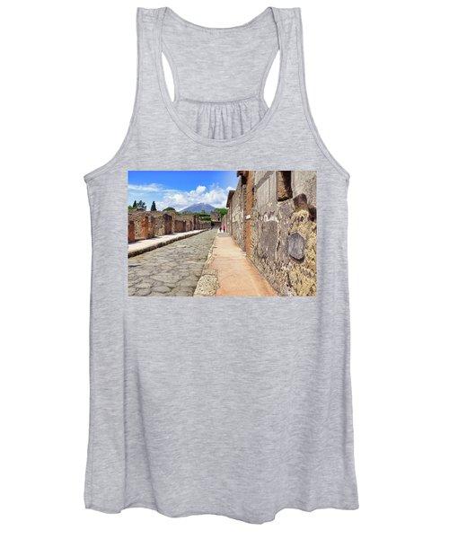 Mount Vesuvius And The Ruins Of Pompeii Italy Women's Tank Top