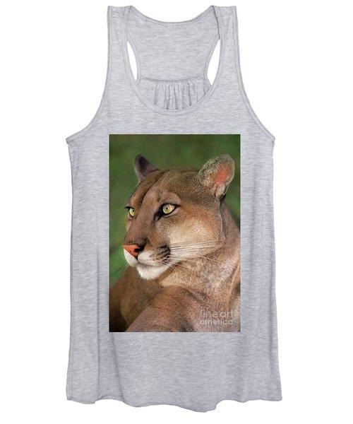 Mountain Lion Portrait Wildlife Rescue Women's Tank Top