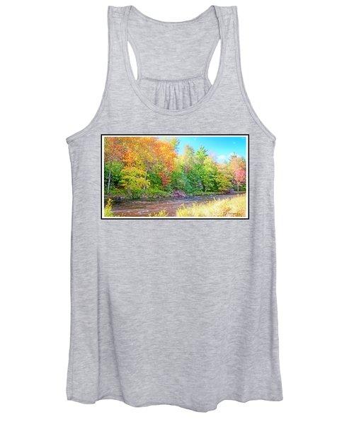 Mountain Stream In Early Autumn Women's Tank Top