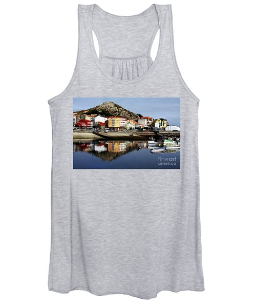 Women's Tank Top featuring the photograph Muxia Camino Reflections by Rick Locke