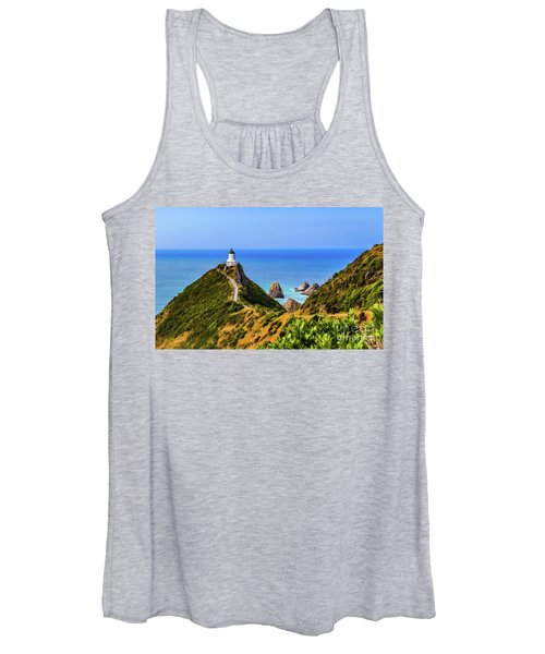 Nugget Point Lighthouse, New Zealand Women's Tank Top