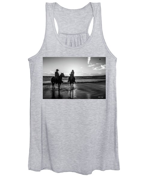 Ocean Sunset On Horseback Women's Tank Top