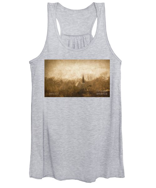 Old Church On A Hill  Women's Tank Top