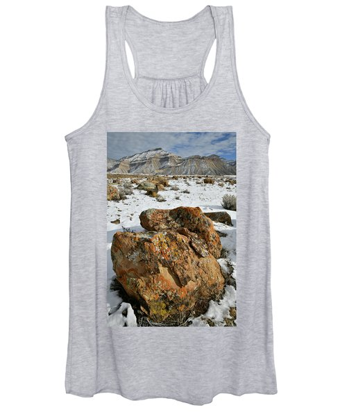 Ornate Colorful Boulders In The Book Cliffs Women's Tank Top