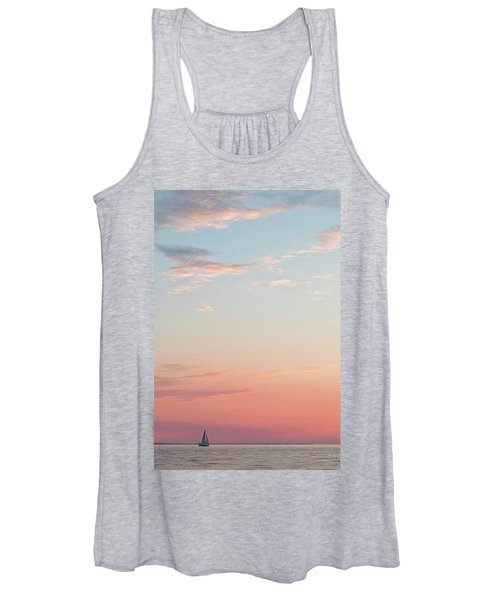Outer Banks Sailboat Sunset Women's Tank Top