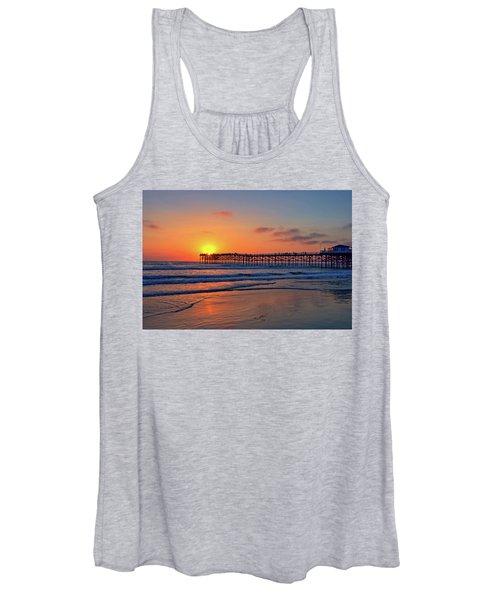 Pacific Beach Pier Sunset Women's Tank Top