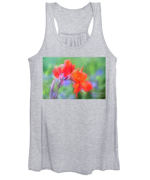 Painted Canna In The Evening Light Women's Tank Top