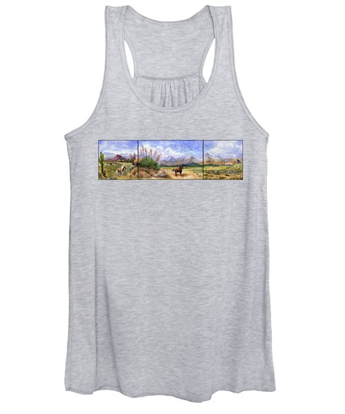 Panorama Triptych Don't Fence Me In  Women's Tank Top