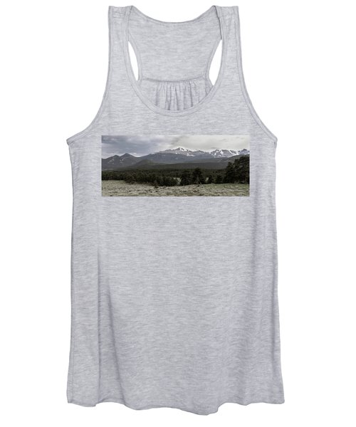 panoramic view of Rocky Mountains Women's Tank Top