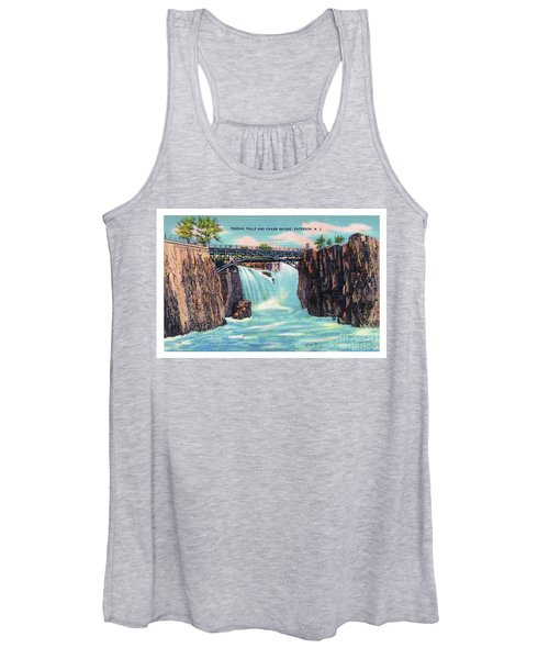 Passaic Falls And Chasm Bridge Paterson N J  Women's Tank Top