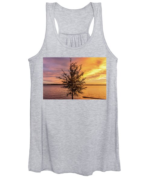 Percy Priest Lake Sunset Young Tree Women's Tank Top