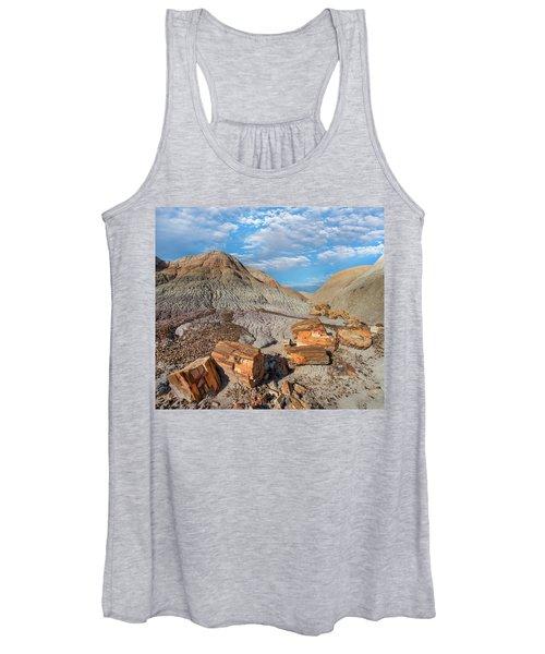 Petrified Logs, Blue Mesa, Petrified Women's Tank Top