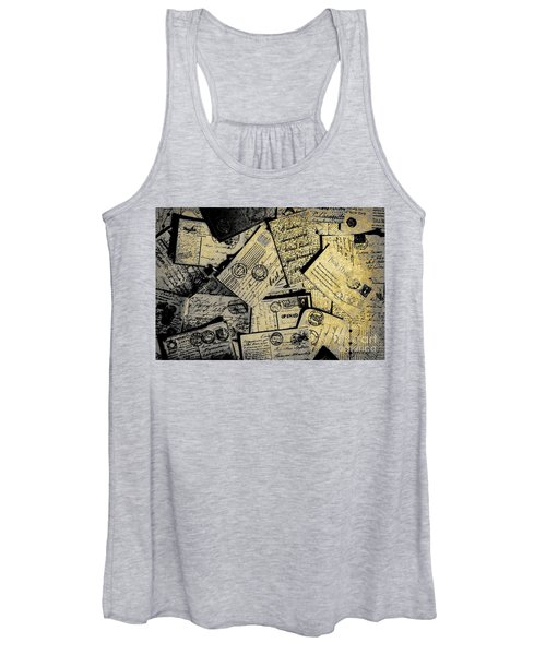 Piled Paper Postcards Women's Tank Top