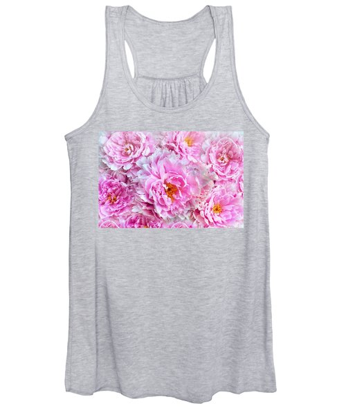Pink Flowers Everywhere Women's Tank Top