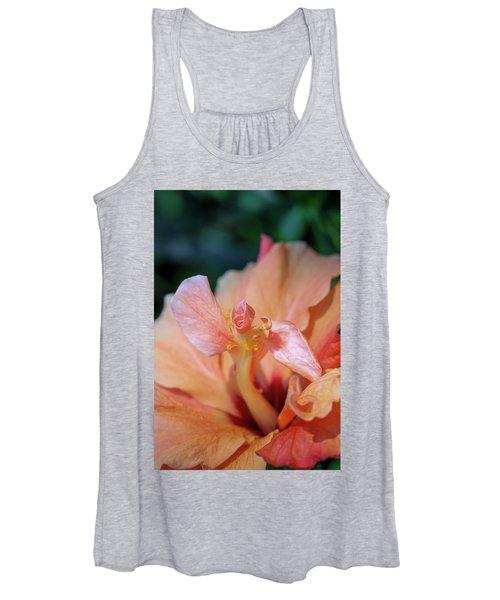 Pink Hibiscus Flower Women's Tank Top