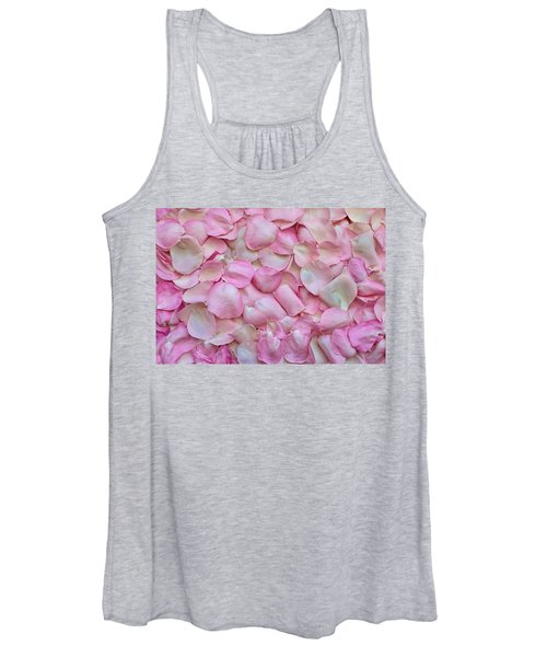 Pink Rose Petals Women's Tank Top