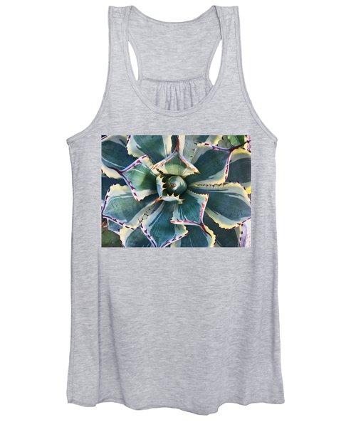 Pinwheel Succulent Women's Tank Top