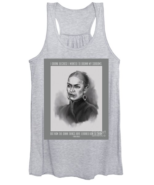 Portrait Of Frida Kahlo Women's Tank Top