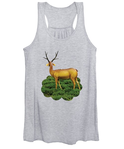 Pretty Deers Playing In The Forest. Women's Tank Top