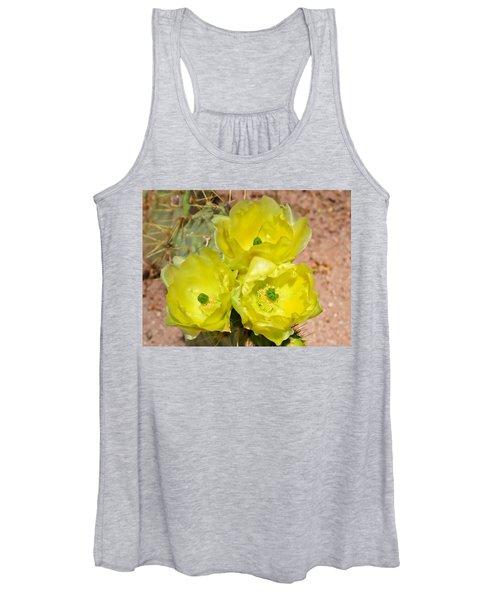 Prickly Pear Cactus Trio Bloom Women's Tank Top