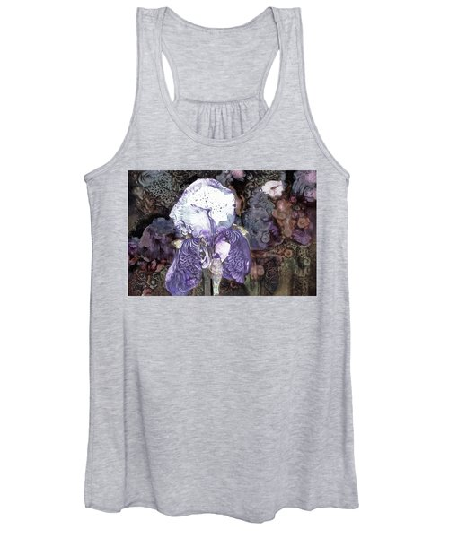 Purple Bearded Iris Women's Tank Top