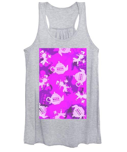 Purple Tea Party Women's Tank Top