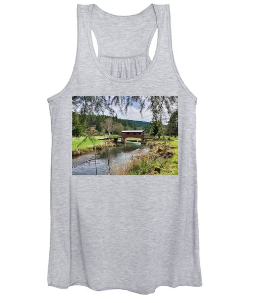 Ranch Hills Covered Bridge Women's Tank Top