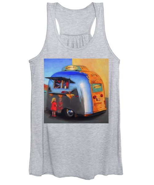 Reflections On An Airstream Women's Tank Top